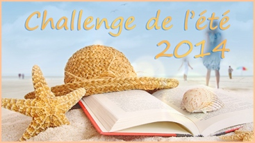 Straw hat , book and seashells on the beach with people walking