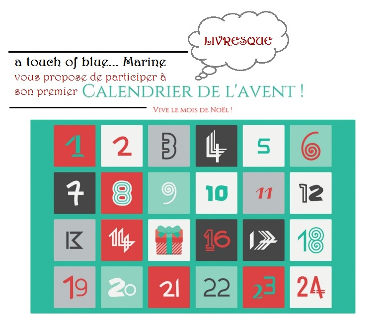 calendrier livresque de l avent a touch of blue marine. Black Bedroom Furniture Sets. Home Design Ideas